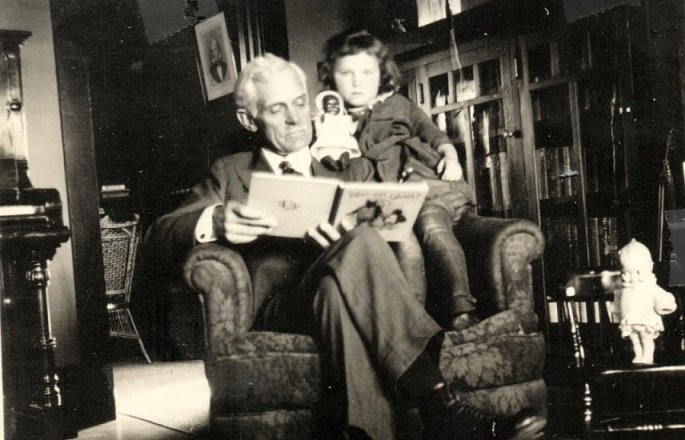 John D. McCully and granddaughter, Martha Jane