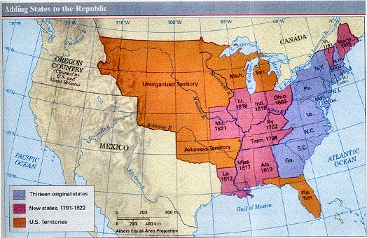 Maps Documenting U S Expansion - Map of us in 1783